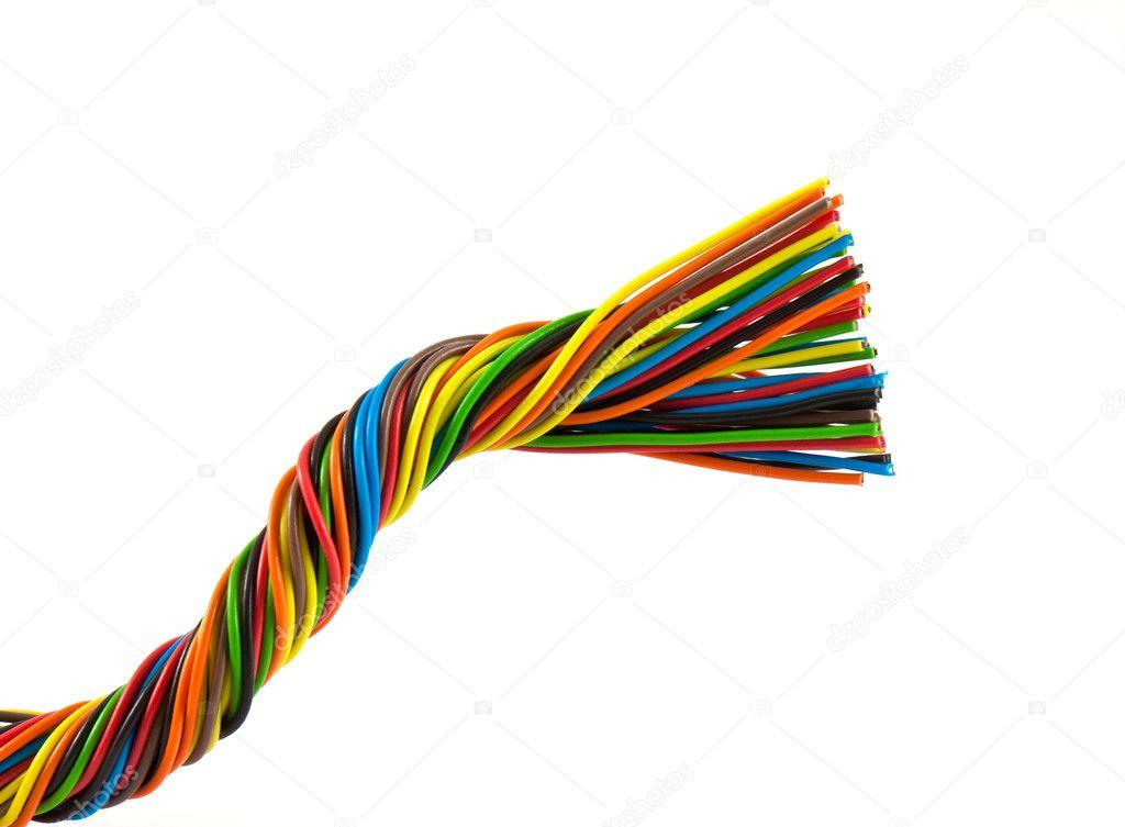 Bündel von Farbe Kabel — Stockfoto © vtorous #5776566