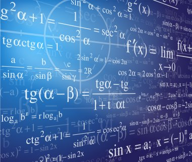 Mathematics background with formulas clip art vector