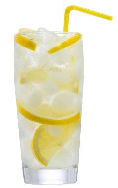 Lemonade with ice and lemon