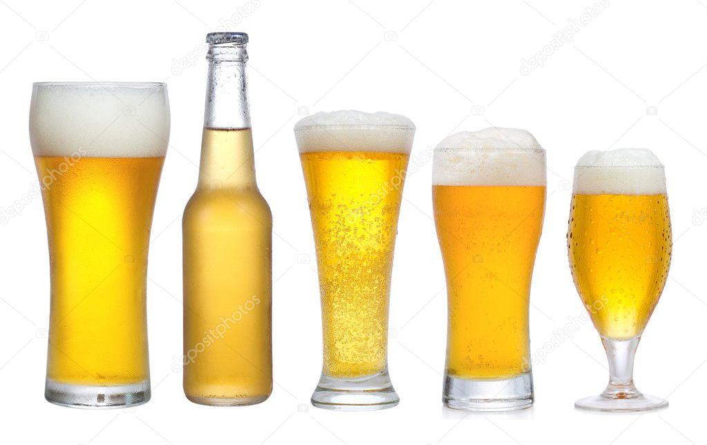 Set con diversi bicchieri di birra foto stock nitrub for Bicchieri birra prezzi