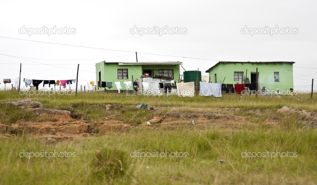 Green houses of poor in Transkei South Africa