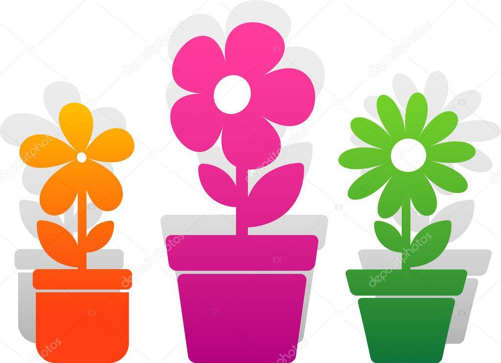 Three vector flower