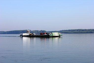 Barge in Danube rive