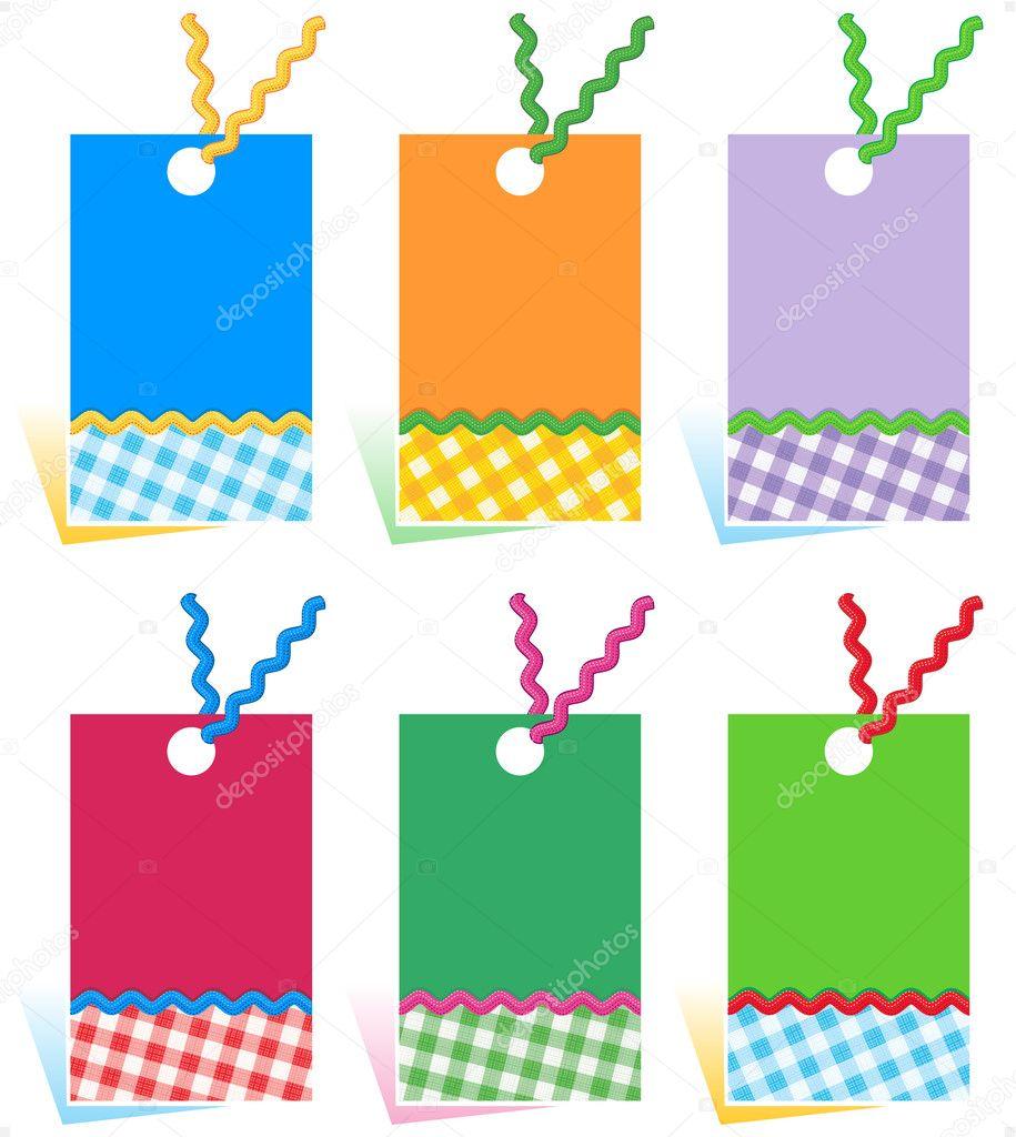 Hang tags design elements