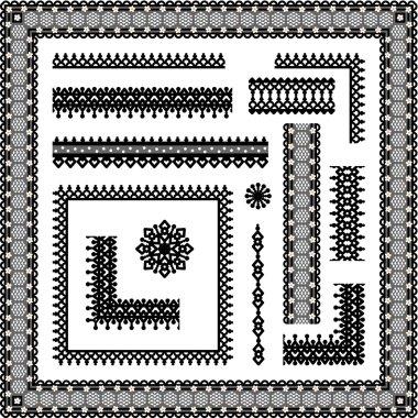 Lace seamless borders, corners, frames, vignettes