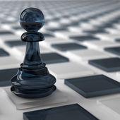 Glass pawn