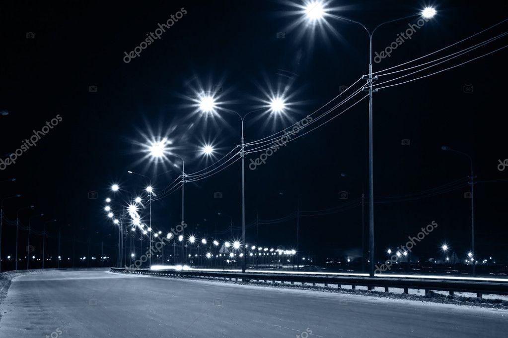 Night urban street