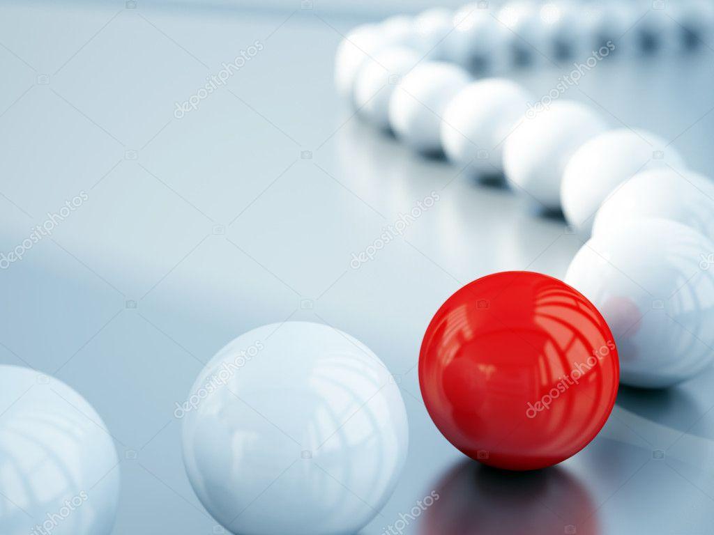 Blurred white balls