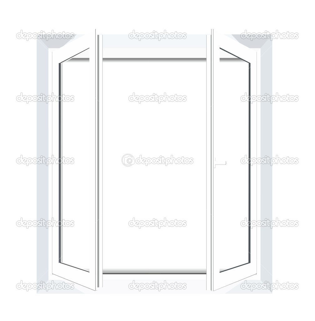 plastic window template model with clipping path included vector illustrat stock vector. Black Bedroom Furniture Sets. Home Design Ideas
