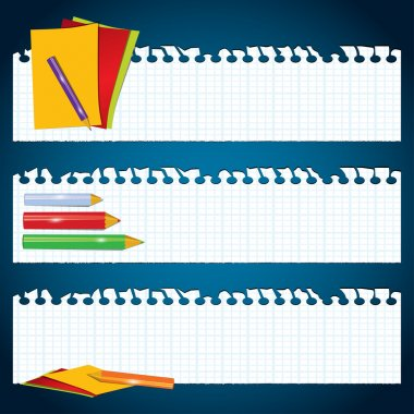 Back to School paper banners