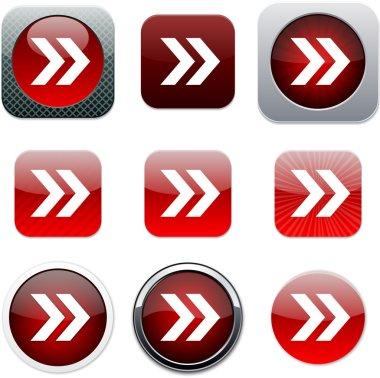 Forward arrow red app icons.