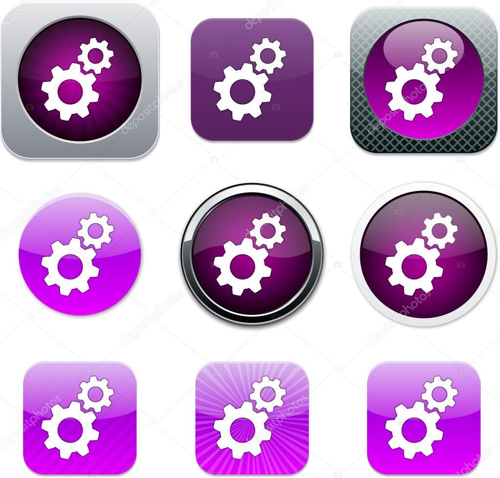 Tools purple app icons  — Stock Vector © boroboro #6143174