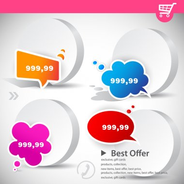Web banners with product prices