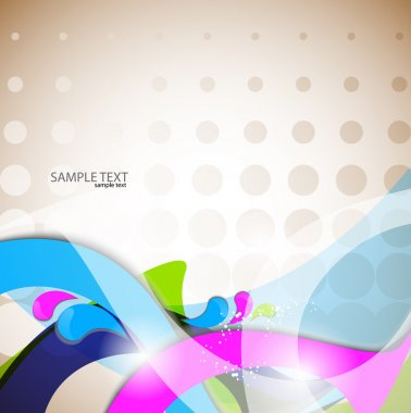 Vector colorful abstract background. Curves lines