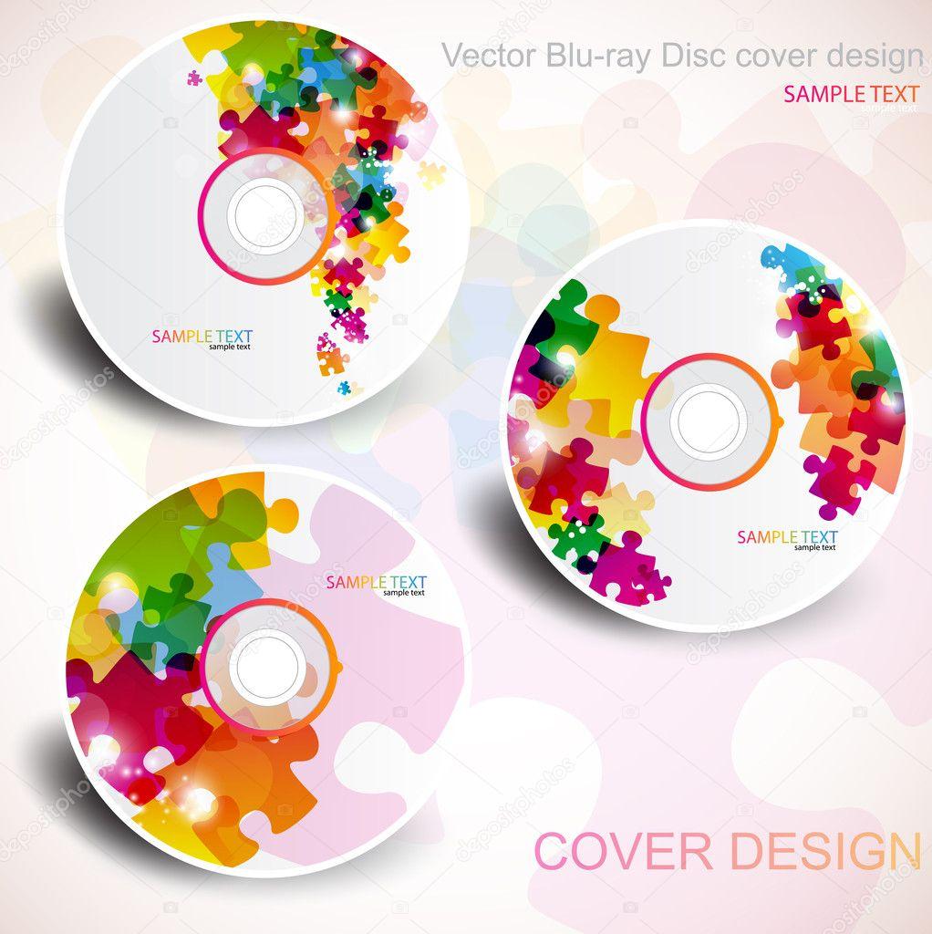 Vektor-cd-Cover-Design. editierbare Vorlagen. Rätseldesign ...