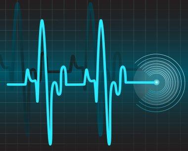 Electrocardiogram stock vector