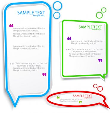 Colorful Speech frame for text stock vector