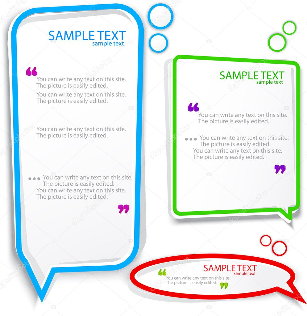 Colorful Speech frame for text