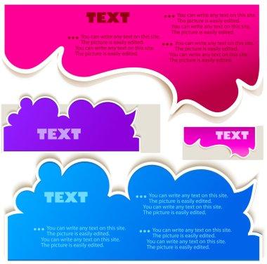 Colorful bubbles for speech clip art vector