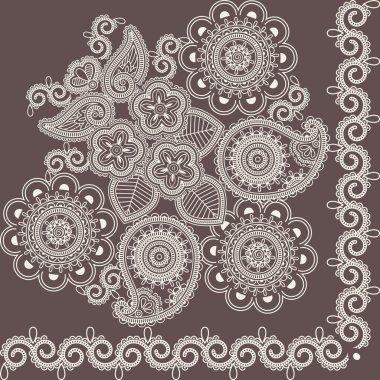 Mehndi flowers 4
