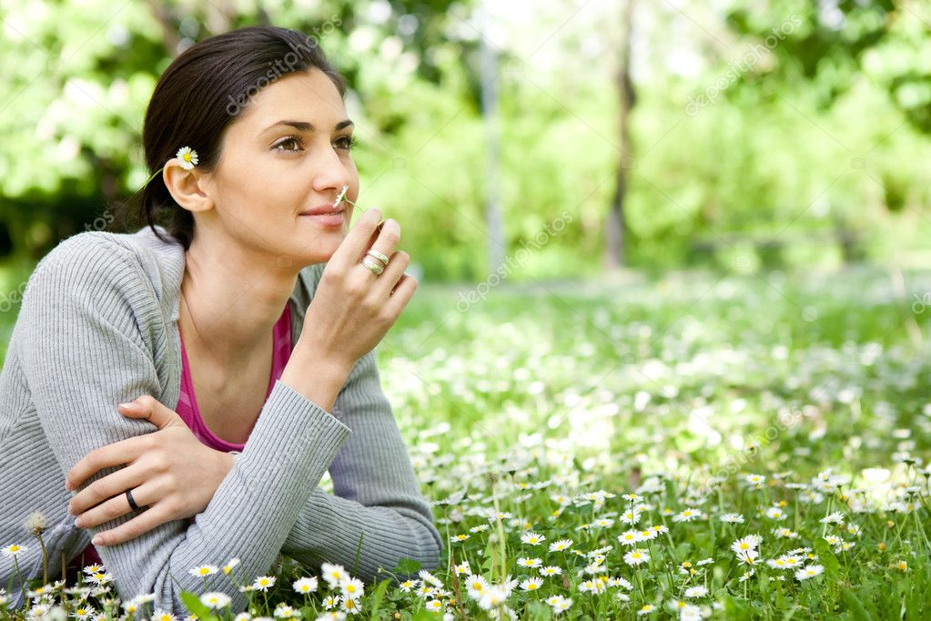 Woman enjoying in nature