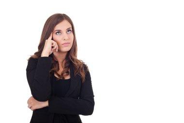 Thinking businesswoman