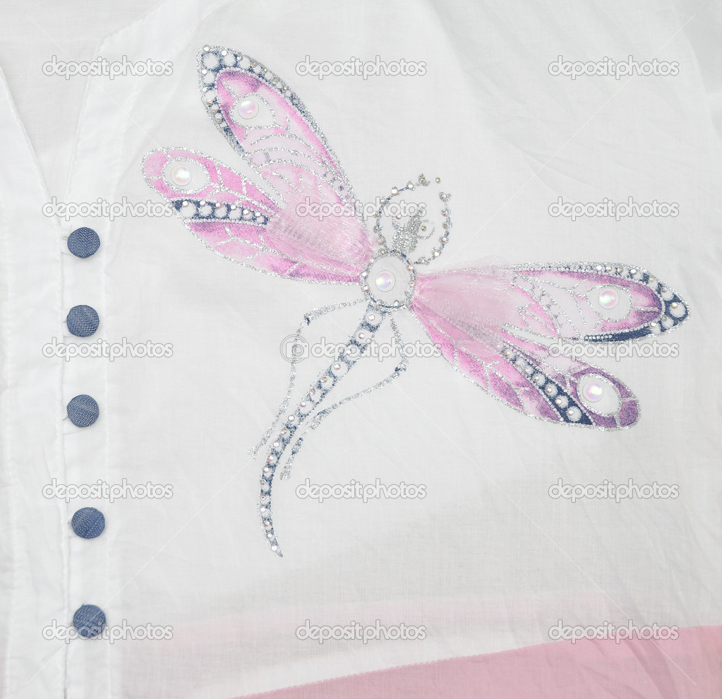 bordado de una libélula — Fotos de Stock © salamiss #6377116