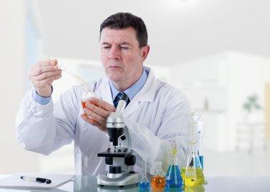 Technician working at laboratory