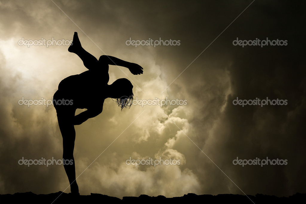 Man Practises Martial Arts Background