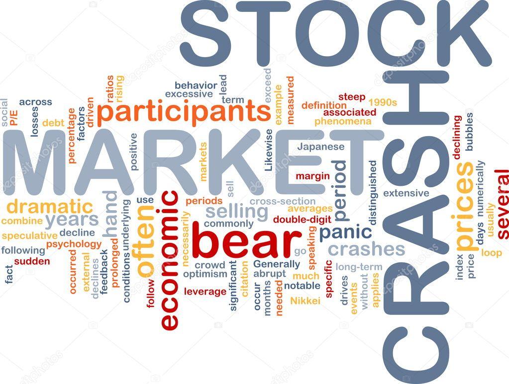 stock market crash is bone background concept — stock photo