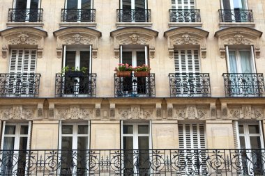 Apartment building with balcony in Paris