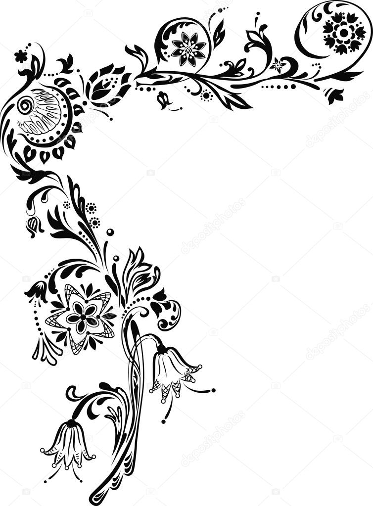 Decorative corner with flowers