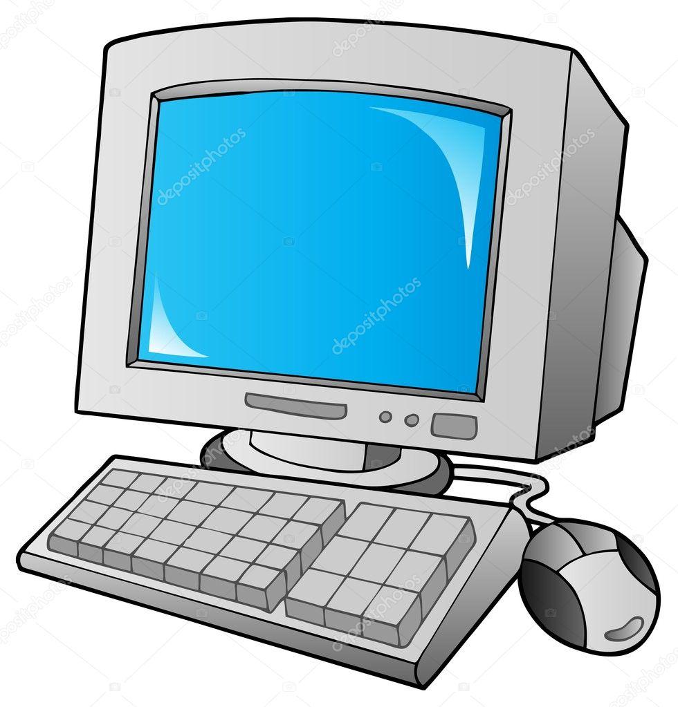 Cartoon on computers | Cartoon desktop computer — Stock Vector ...