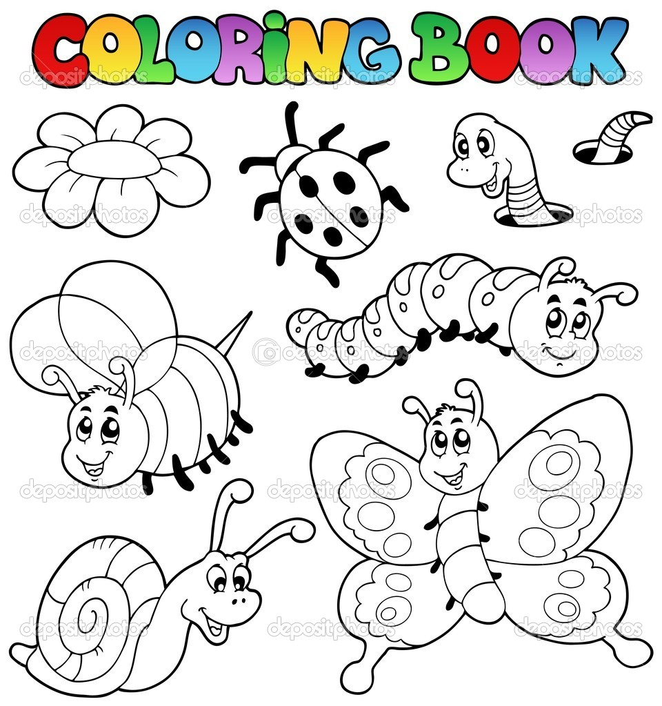 Coloring Book With Small Animals 2 Stock Vector C Clairev 5515234