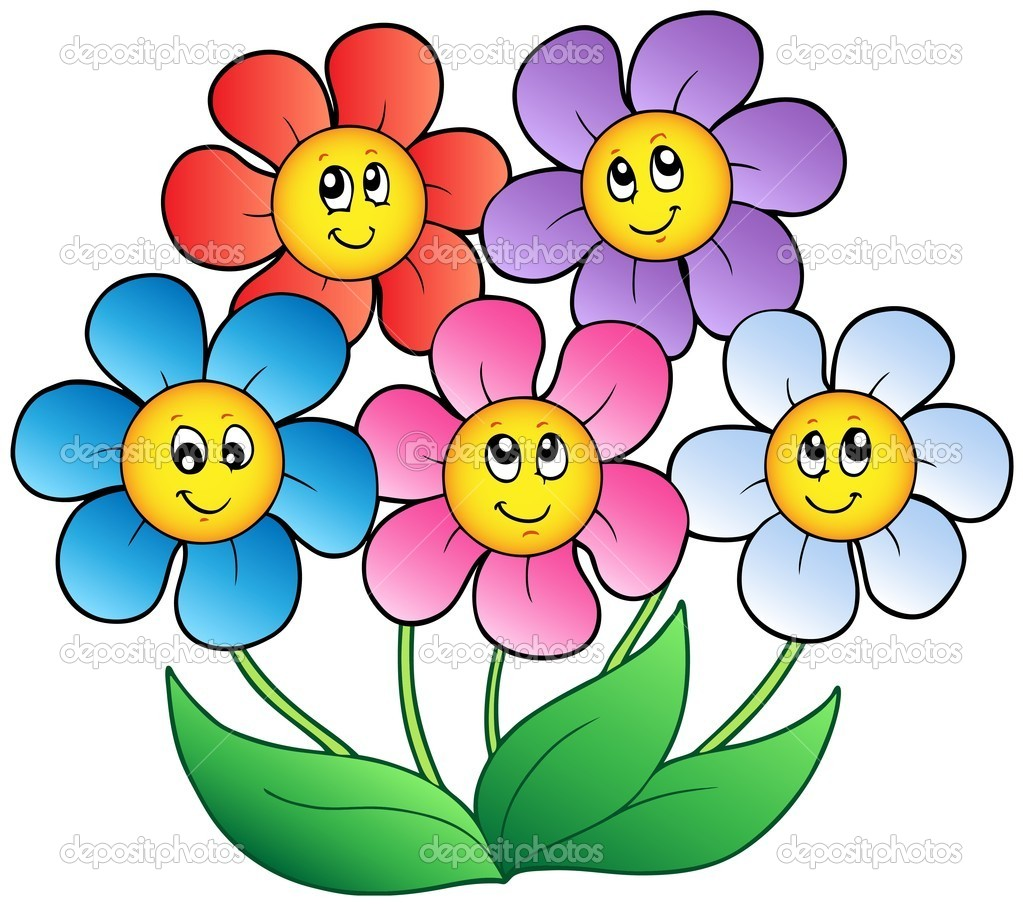 Flower Dibujo: Cinco Dibujos Animados De