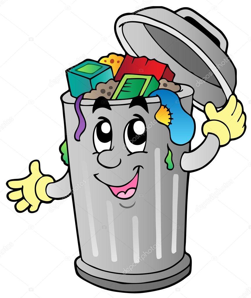Výsledek obrázku pro odpadkovy kos kresleny