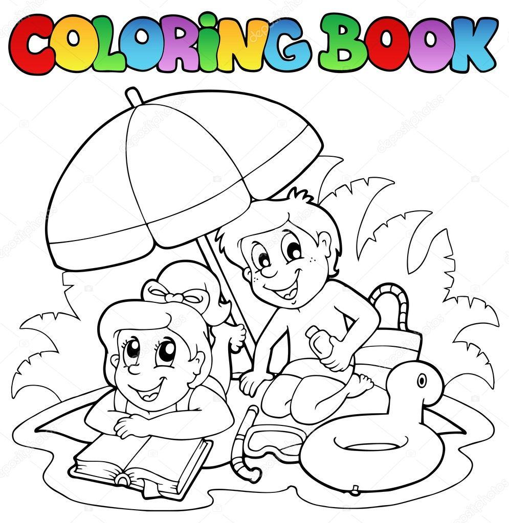 libro de colorear con el tema del verano 2 — Archivo Imágenes ...