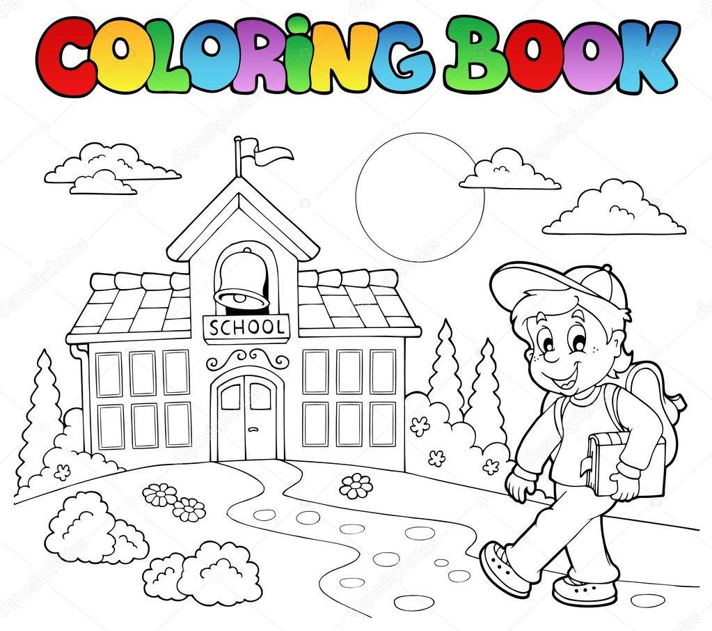 Coloring Book School Cartoons 7 Stock Vector Clairev 6453848