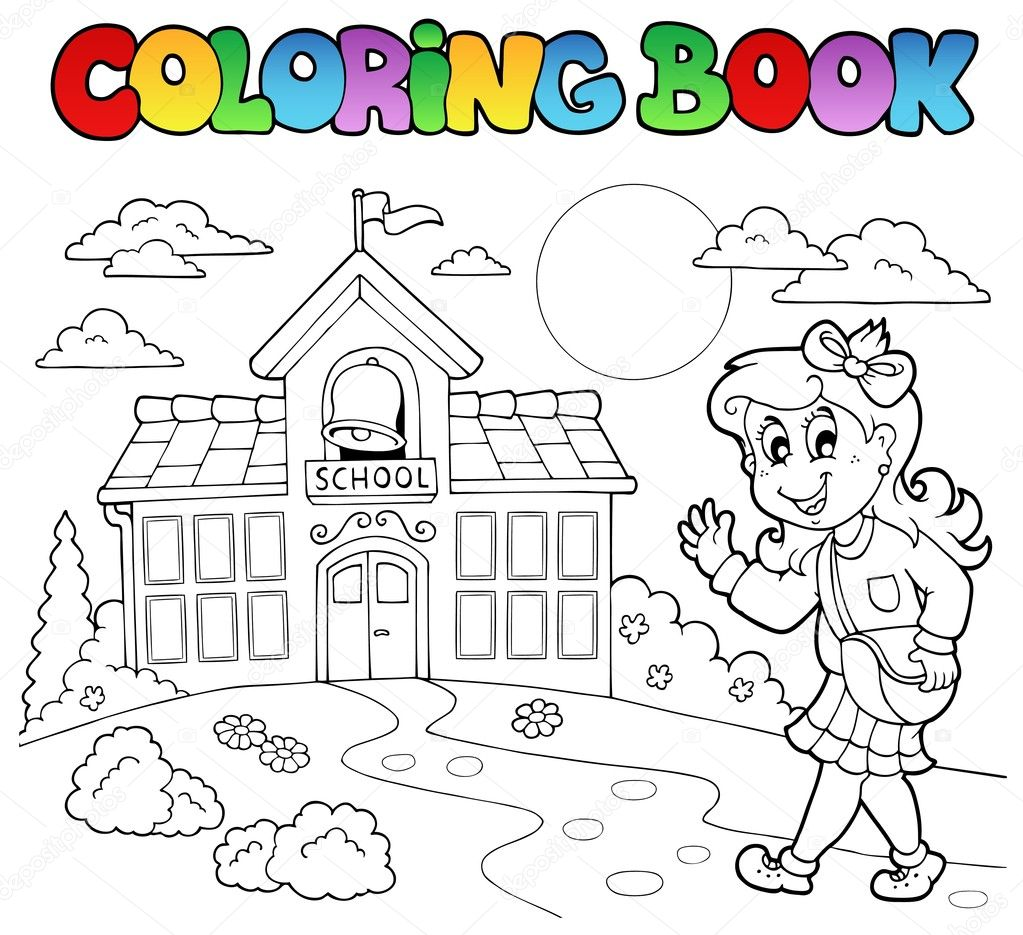 Coloring book school - Coloring Book School Cartoons 8 Vector Illustration Vector By Clairev