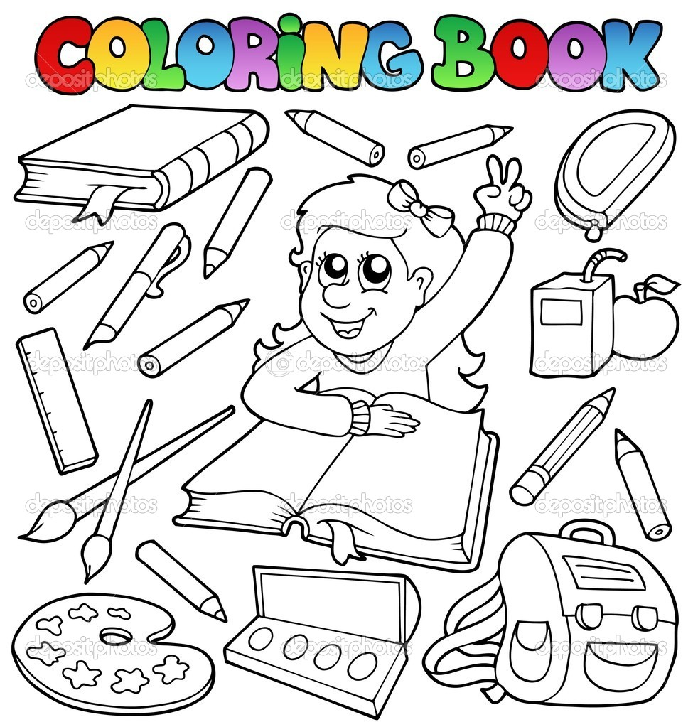 Coloring book school - Coloring Book School Topic 1 Vector Illustration Vector By Clairev