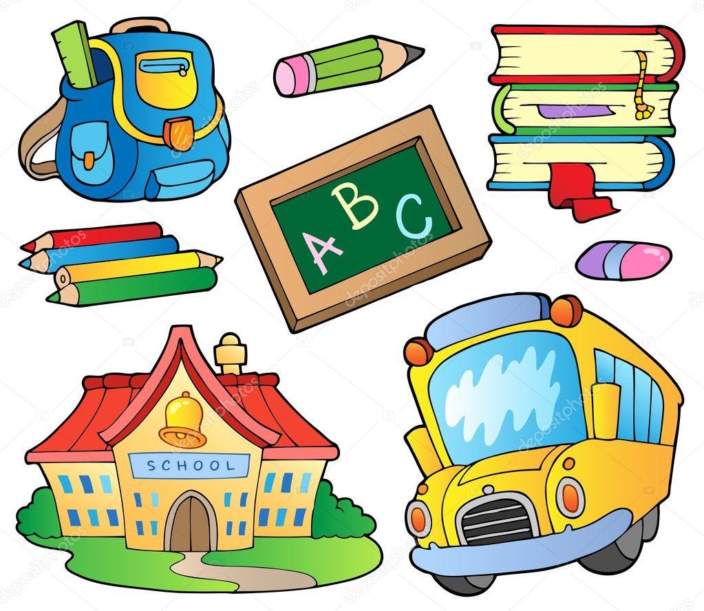 Imágenes Animadas De Utiles Escolares Para Colorear útiles