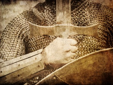 Photo of Knight and sword.
