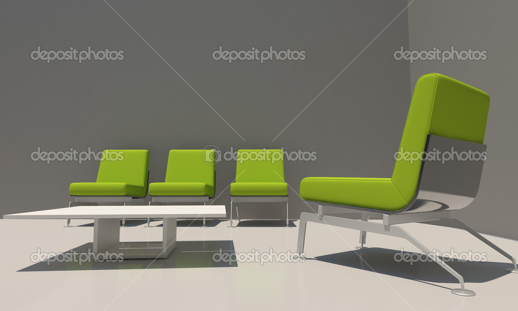 grijs en groen interieur — Stockfoto © jordygraph #6002616