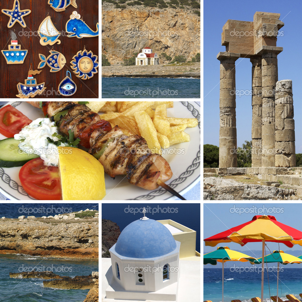 Greece vacation, collage