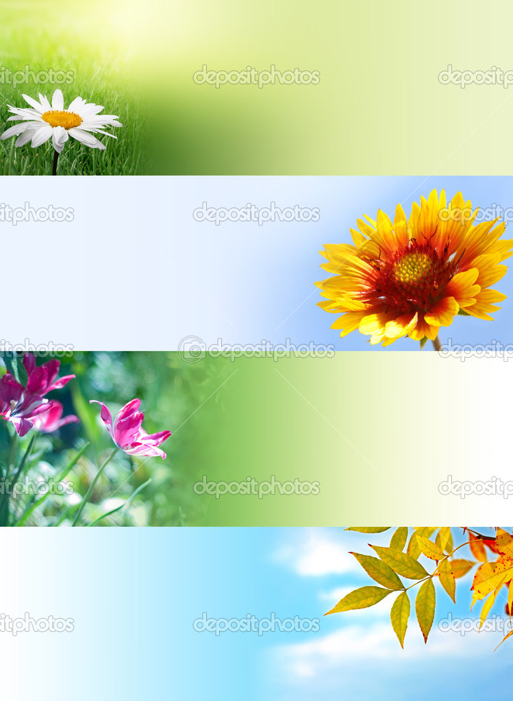 Nature web banners