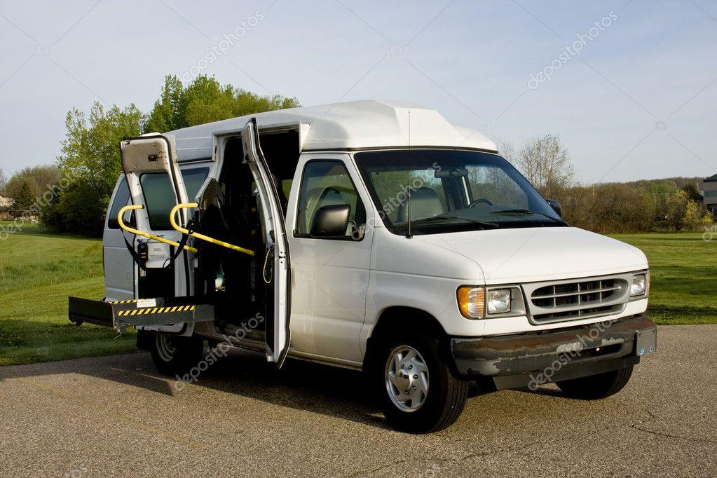 wheelchair lift for van. Wheelchair Lift Van \u2014 Stock Photo For