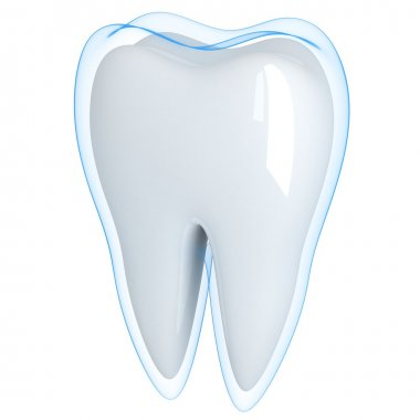 Tooth and blue shell