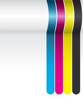 CMYK Colorful Stripes Background