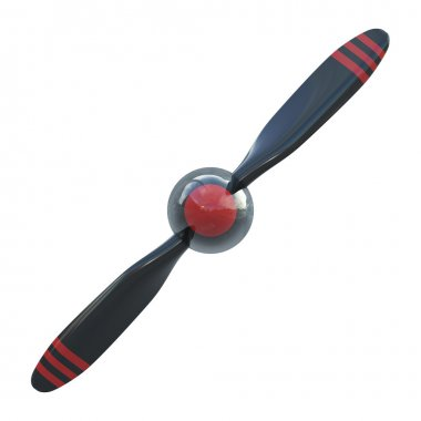 Plane propeller with 2 blades