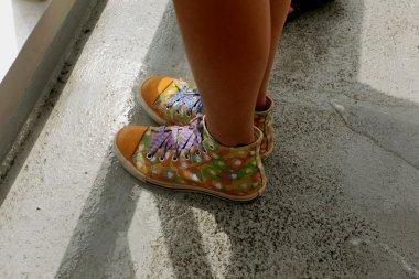 Girls feet in shoes